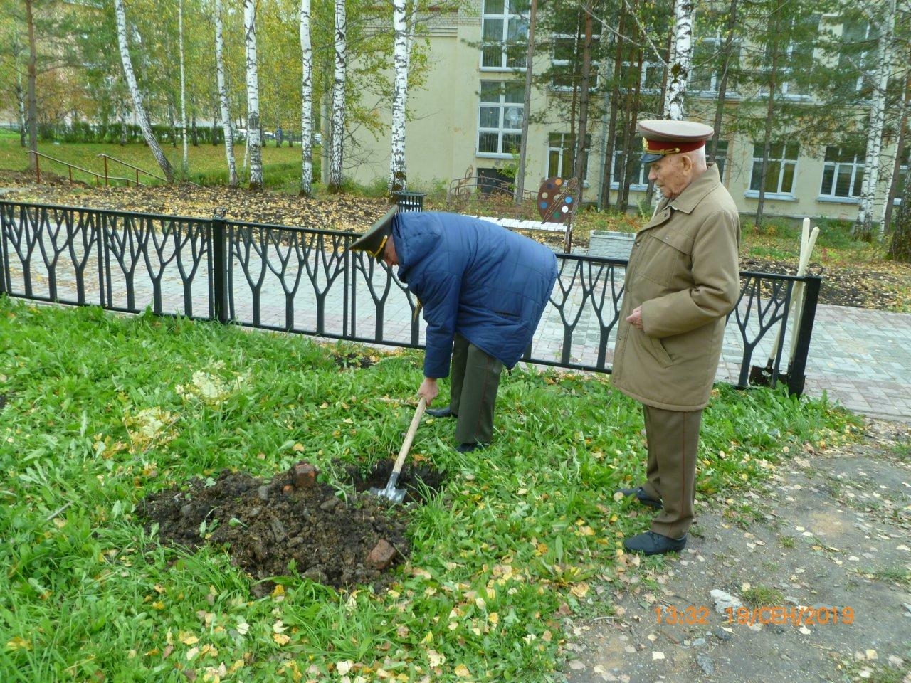 Общественники и полицейские высадили деревья в рамках проекта «Лес Победы»